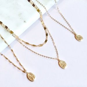 Jewelry - Gold Filled Miraculous Mary Necklace
